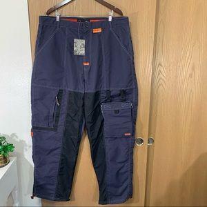 VTG FUBU EXTREME SPORTS Baggy Nylon Pants Navy
